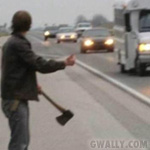 avatar: Halloween: hitchhiker with axe