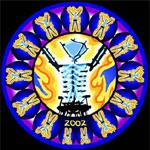 burning man pendant: alien monkey love nest