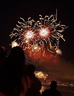 Flying Spagetti Monster fireworks