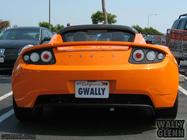 Tesla Roadster: Rear View