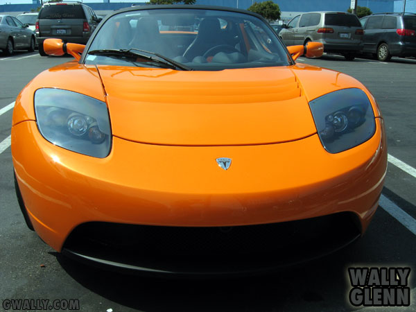Tesla Roadster: Front View