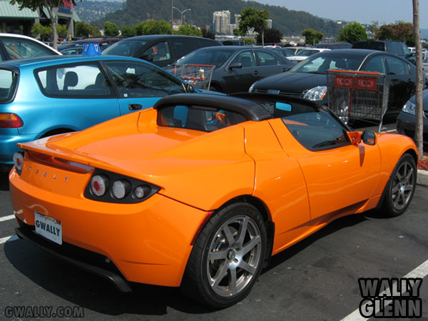 Tesla Roadster: Side View